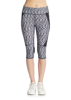 Calvin Klein Performance Cropped Space-Dye Leggings