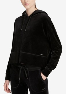 Calvin Klein Performance Cropped Velour Hoodie