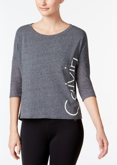 Calvin Klein Performance Dolman-Sleeve Logo Top