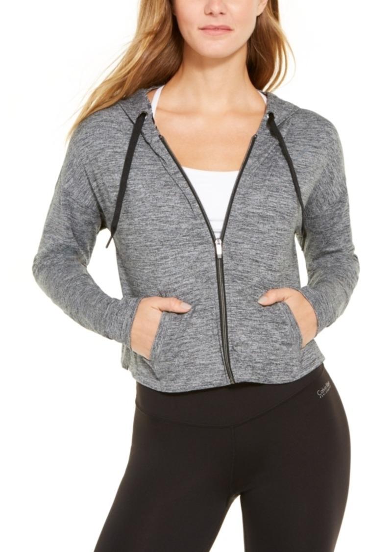 Calvin Klein Performance Drop-Shoulder Cropped Zip Hoodie