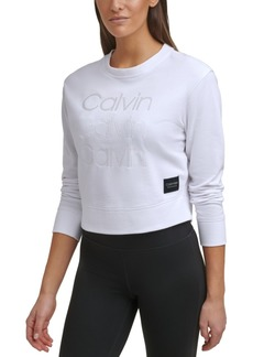 Calvin Klein Performance Embroidered-Logo Sweatshirt