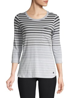 Calvin Klein Performance Fade Out Striped T-Shirt