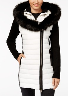 Calvin Klein Performance Faux-Fur Hooded Puffer Jacket