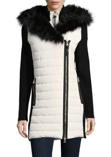 Calvin Klein Performance Faux Fur Puffer Coat