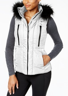 Calvin Klein Performance Faux-Fur-Trim Puffer Vest