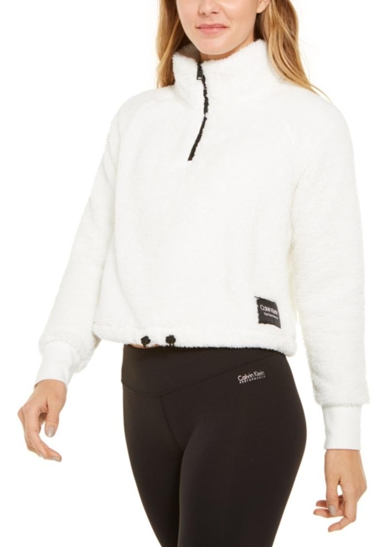 Calvin Klein Performance Fleece Quarter-Zip Top