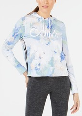 Calvin Klein Performance Floral Etch Printed Striped Hoodie