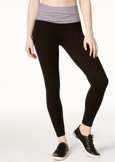 Calvin Klein Performance Fold-Over Waistband Ankle Leggings