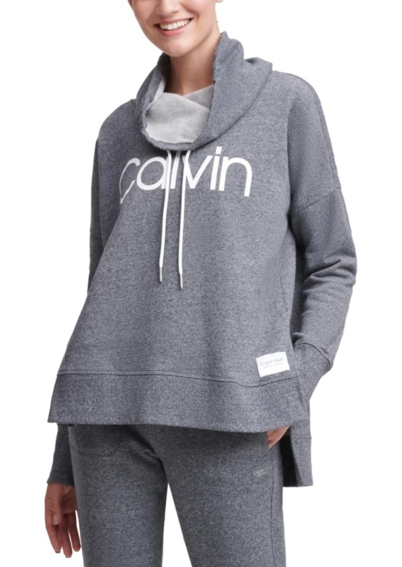 Calvin Klein Performance Funnel-Neck Logo Sweatshirt