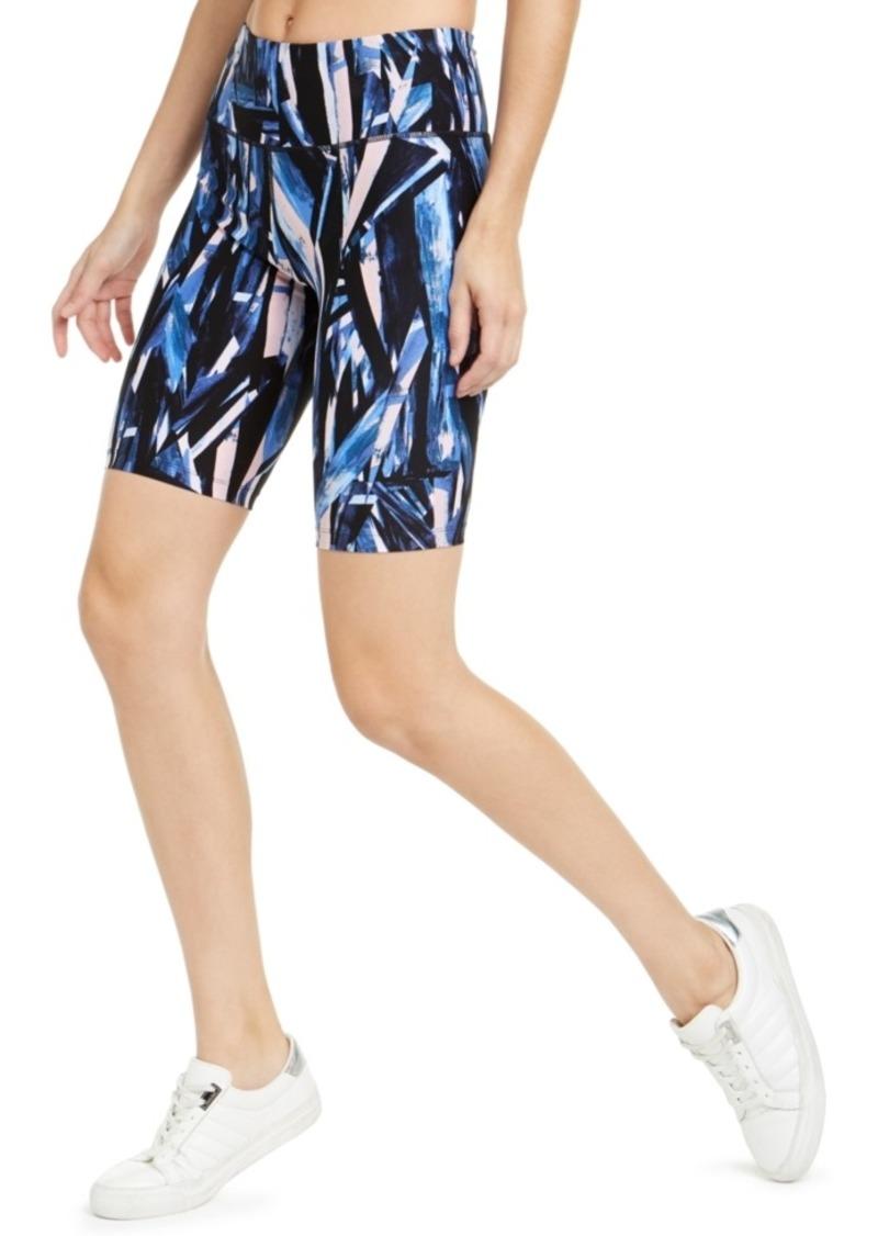 Calvin Klein Performance Geo-Print High-Waist Bike Shorts