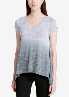 Calvin Klein Performance Haci Open-Back Marled Ombre Trapeze Top
