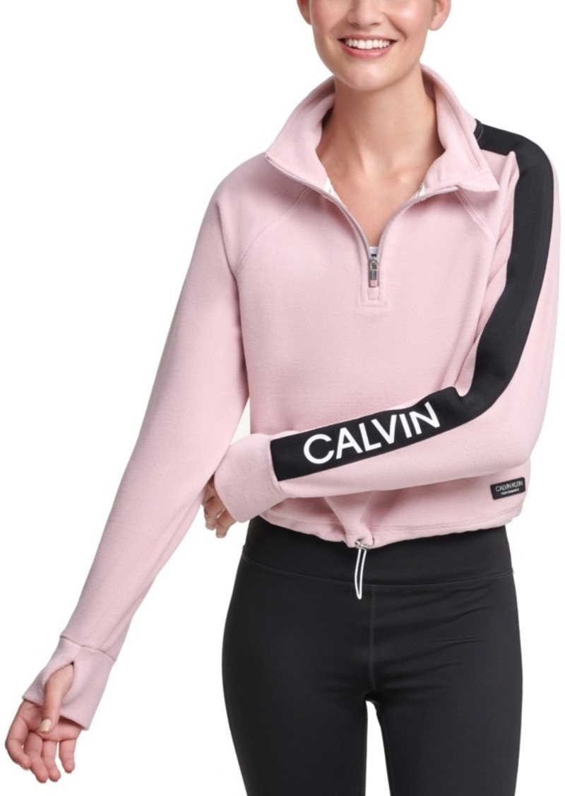 Calvin Klein Performance Half-Zip Logo Top