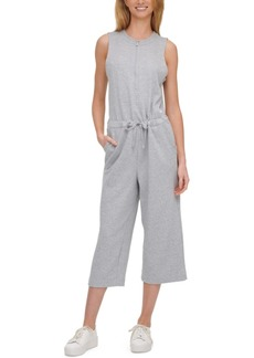 Calvin Klein Performance Half-Zip Sleeveless Jumpsuit