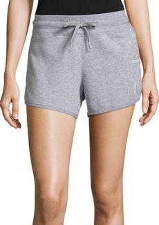 Calvin Klein Performance Heathered Cotton-Blend Shorts