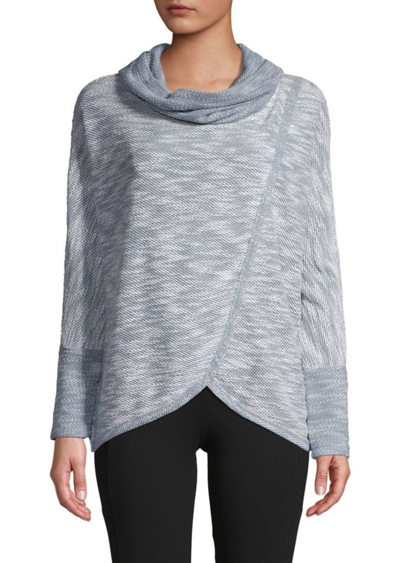 Calvin Klein Performance Heathered Cowlneck Sweatshirt