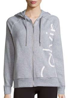 Calvin Klein Performance Heathered Long Sleeve Hoodie