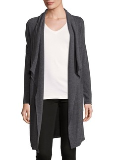 Calvin Klein Performance Heathered Open Front Sweater
