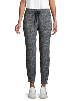 Calvin Klein Performance Heathered Side-Striped Joggers