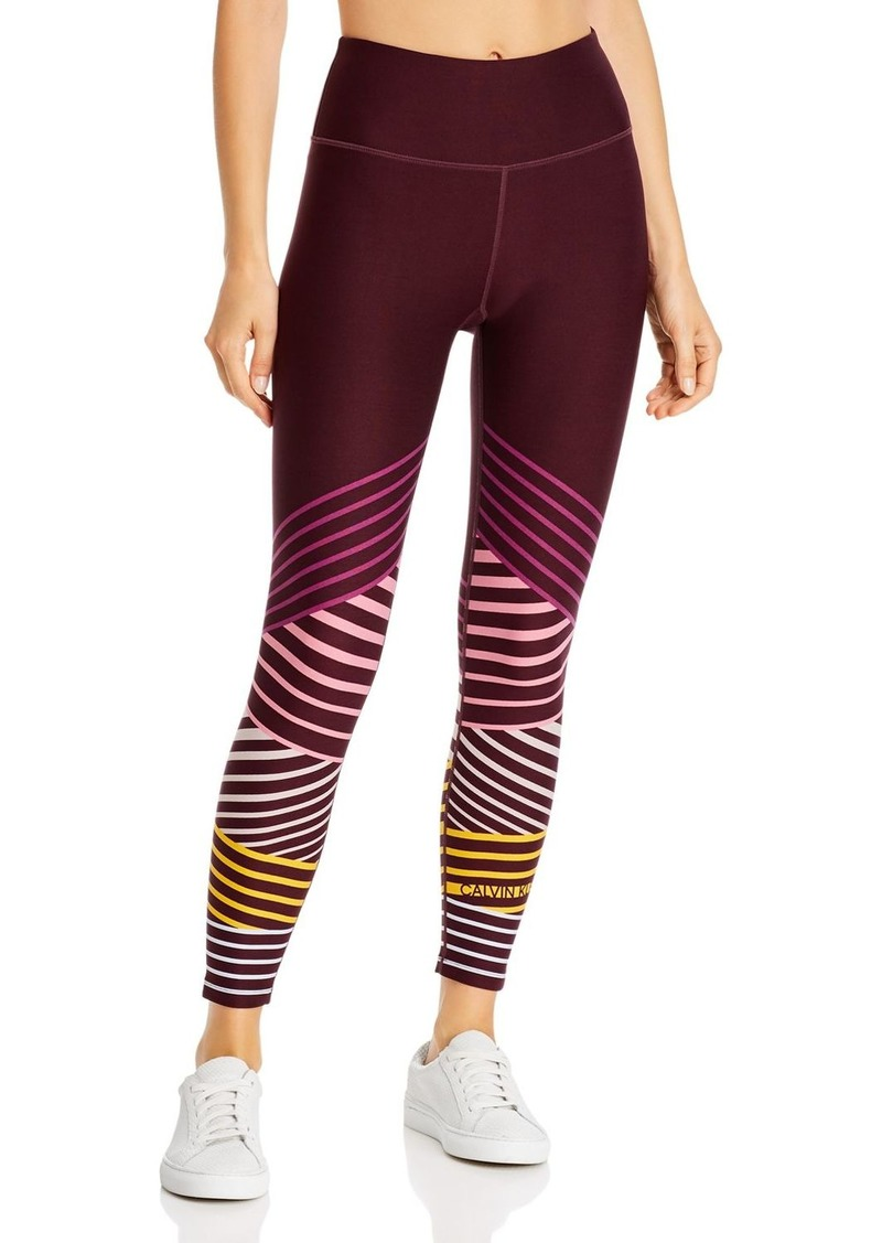 Calvin Klein Performance High-Rise Striped Detail Leggings