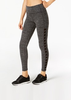 Calvin Klein Performance High-Waist Lattice-Side Leggings