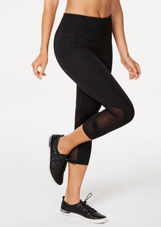 Calvin Klein Performance High-Waist Mesh-Trimmed Cropped Leggings