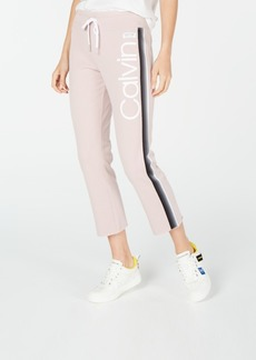 Calvin Klein Performance High-Waist Ombre-Stripe Ankle Pants