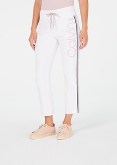 Calvin Klein Performance High-Waist Ombre-Stripe Ankle Pants