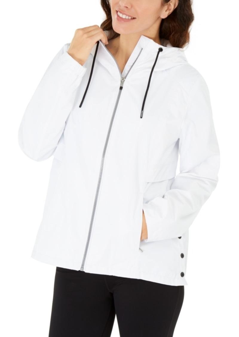 Calvin Klein Performance Hooded Side-Snap Jacket