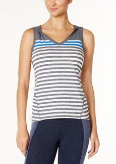 Calvin Klein Performance Hooded Striped Tank Top