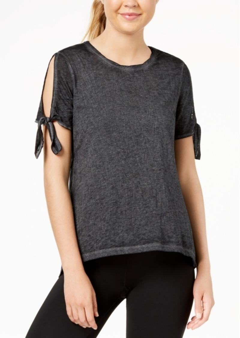 Calvin Klein Performance Icy Wash Cold-Shoulder Vented-Back T-Shirt