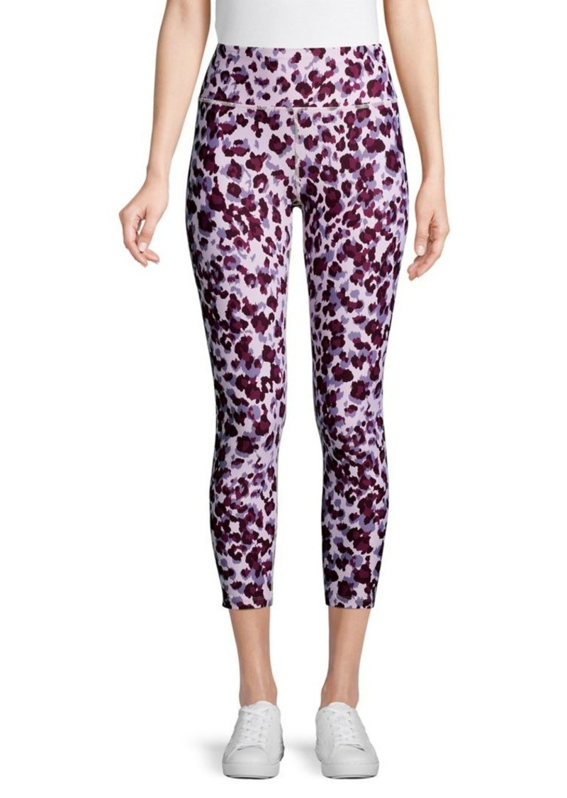 Calvin Klein Performance Jaguar-Print Cropped Leggings