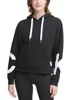 Calvin Klein Performance Jumbo-Logo Fleece Hoodie