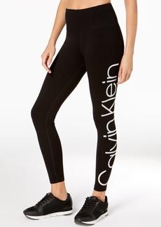 Calvin Klein Performance Jumbo-Logo High-Rise Leggings