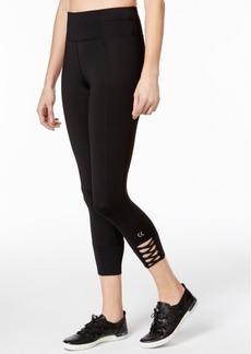 Calvin Klein Performance Lattice-Detail Cropped Leggings