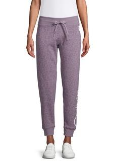 Calvin Klein Performance Leopard-Print Cotton-Blend Jogger Pants