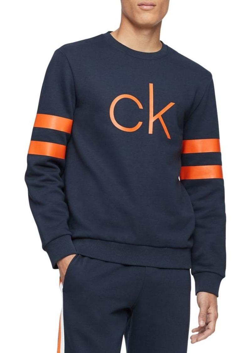 Calvin Klein Performance Logo Cotton-Blend Sweatshirt