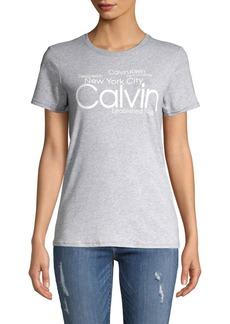 Calvin Klein Performance Logo Crewneck Tee