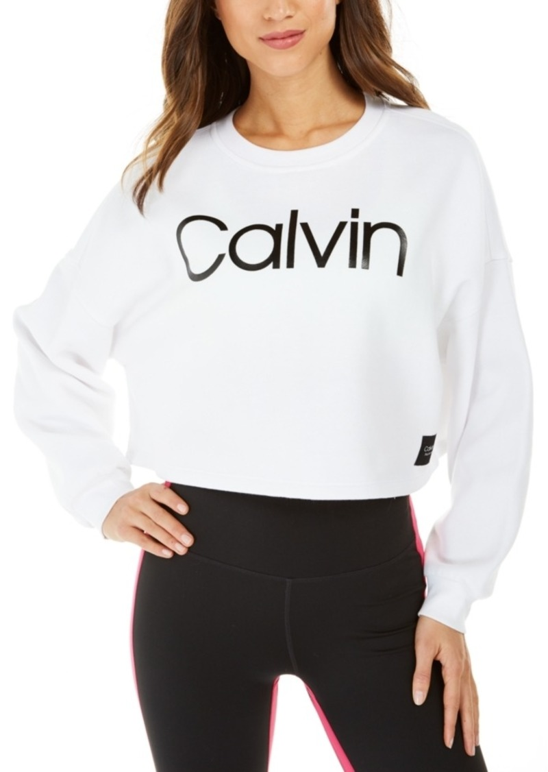 Calvin Klein Performance Logo Cropped Sweatshirt