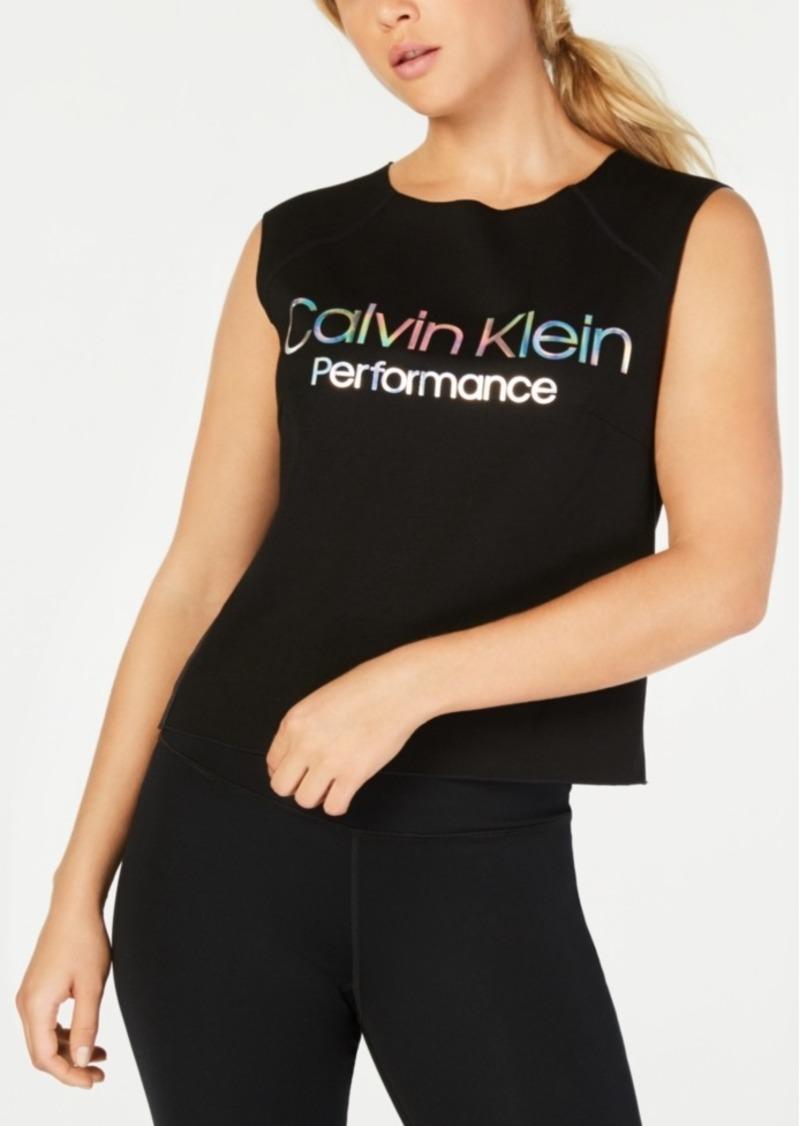 Calvin Klein Performance Logo Cropped Tank Top