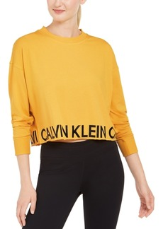 Calvin Klein Performance Logo Cropped Top