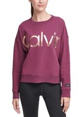 Calvin Klein Performance Logo Drop-Shoulder Sweatshirt