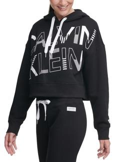 Calvin Klein Performance Logo-Graphic Fleece Hoodie