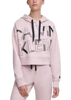 Calvin Klein Performance Logo-Graphic Fleece Hoodie
