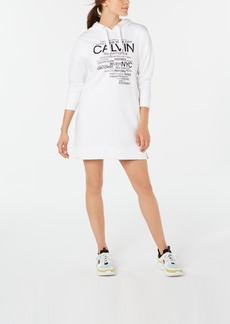 Calvin Klein Performance Logo-Graphic Hoodie Dress
