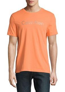 Calvin Klein Performance Textured Cotton Logo Graphic Tee