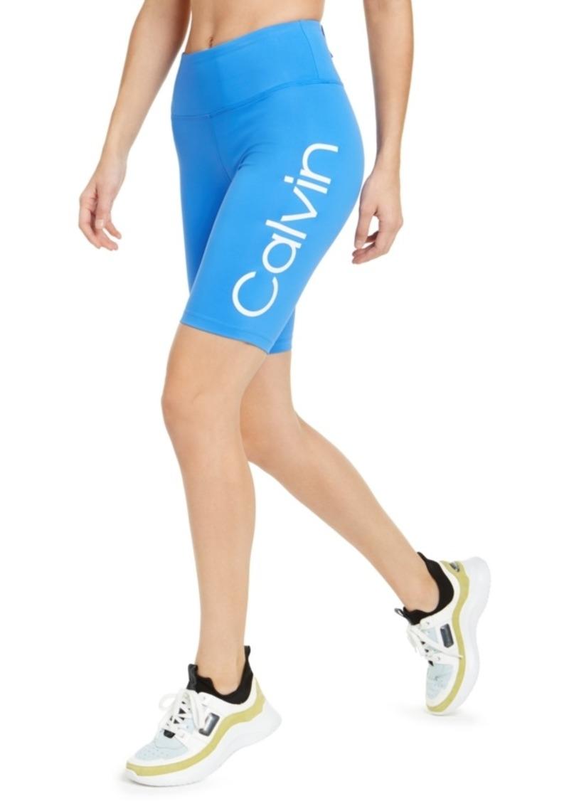 Calvin Klein Performance Logo High-Waist Bike Shorts