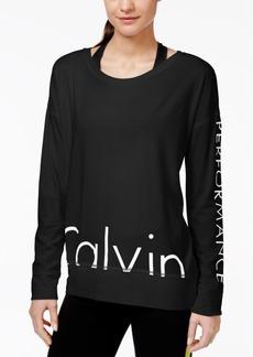 Calvin Klein Performance Logo Long-Sleeve Top