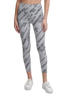 Calvin Klein Performance Logo Mix Print 7/8 Length Leggings
