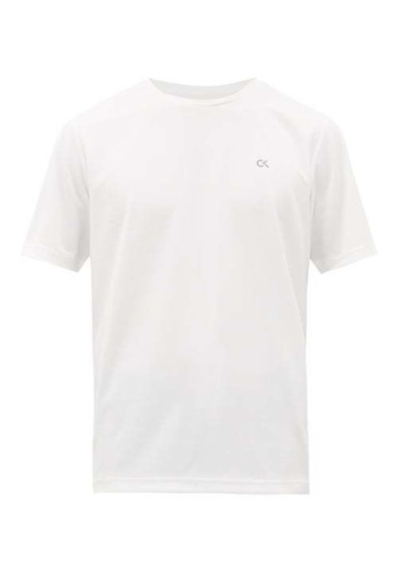 Calvin Klein Performance Logo-print technical-piqué T-shirt