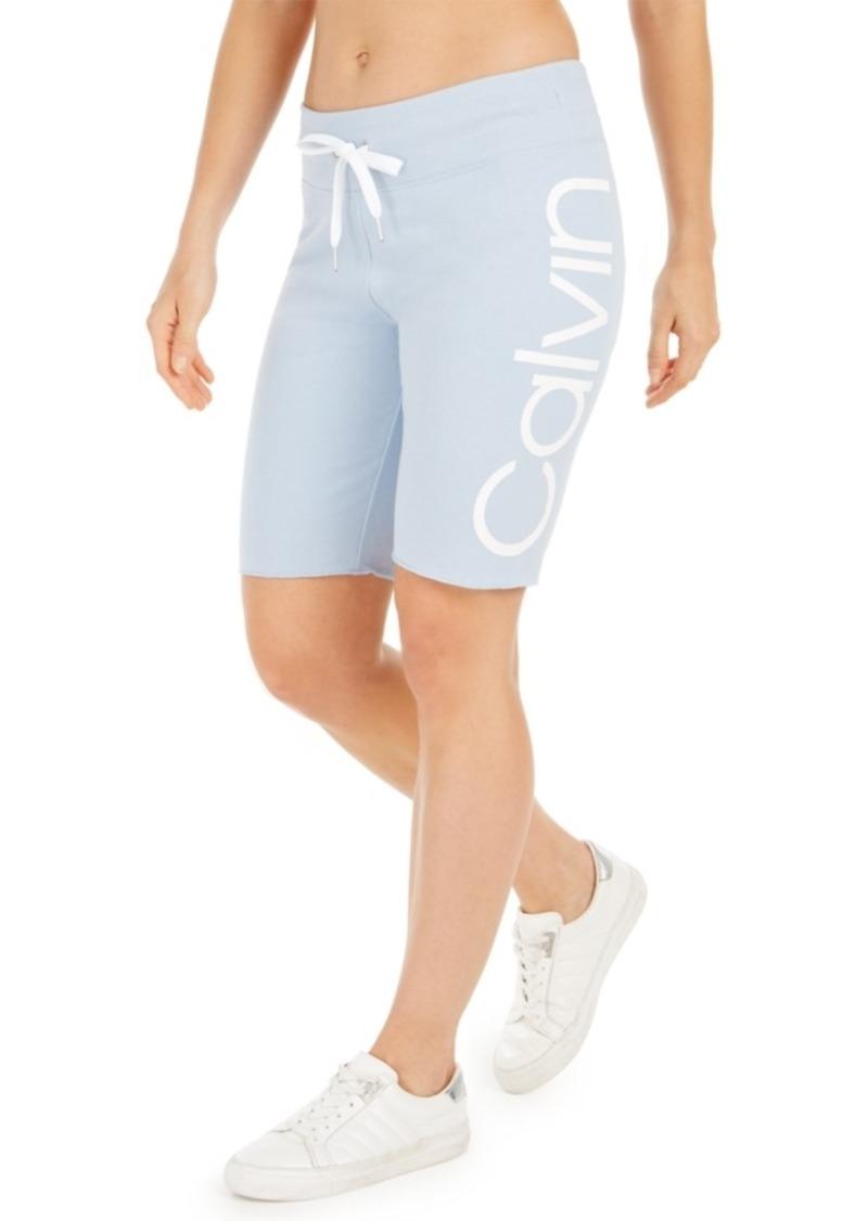 Calvin Klein Performance Logo Terry Bermuda Shorts